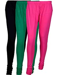 Cotton Leggings (Culture The Dignity Women's Cotton Leggings Combo Of 3_CTDCL_BGM1_BLACK-GREEN-MAGENTA_FREESIZE)