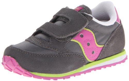 Saucony Baby Jazz H&L Sneaker ,Grey/Magenta/Green,11 M US Li