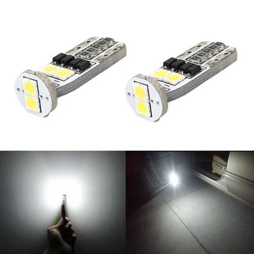 JDM ASTAR Extremely Bright 3030 Chipsets 168 175 194 2825 W5W T10 LED Bulbs,Xenon White(Only used for interior or license plate light)
