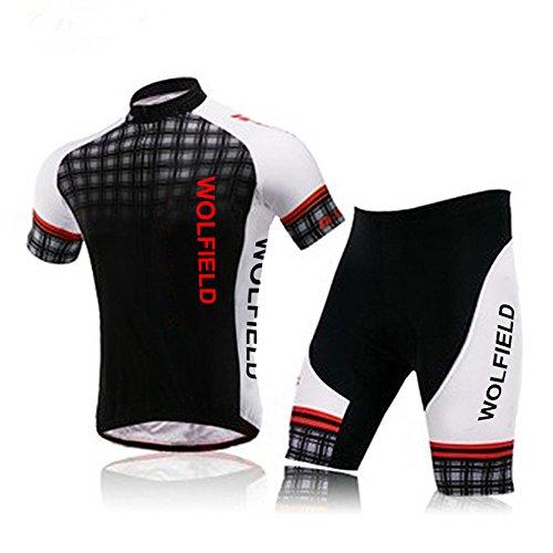 Lixada Ropa de Montar Jersey+Pantalones Cortos Respirable para Ciclismo Bicicleta al Aire Libre (L)