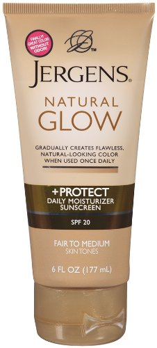 Jergens SPF Glow And Protect Body Lotion Fair To Med 6 Ounce