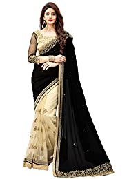 Sarees (Women's Clothing Saree For Women Latest Design Wear New Collection In Latest With Designer Blouse Free... - B074MZD789