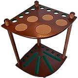 8 Pool Cue Rack - Billiard Cue Stick - Deluxe Floor Corner Cue Rack - Hold 8 Pool Cues