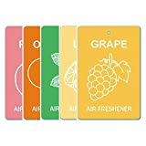Edelcrafts Car Home Office Paper Hanging Air Freshener (Buy 4 Get 5) - FREE SHIPPING - Choice: Grape, Lemon, Mint...