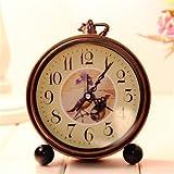 Sellify Color3 : Vintage Aralm Clock Table Desk Wall Clock Retro Rural Style Decorative Home Decor Clock- Color3