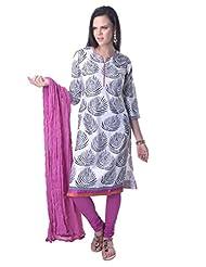 Vastra Vinod Leaf Print Cotton Suitset