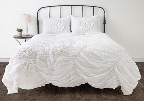 Hush Bedding Set, TWIN, WHITE
