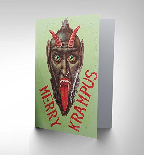 CARD GREETING MERRY KRAMPUS ALPINE XMAS SANTA DEVIL FUNNY CP2154