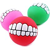 Alcoa Prime New Grinning Teeth Sound Ball Pet Dog Puppy Squeaky Chew Toy Squeaker Ball Funny Toys Cute Style Drop...