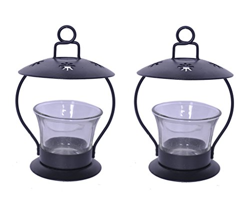 Sutra Decor Clear Iron Votive Tealight Candle Holder Set Of 2
