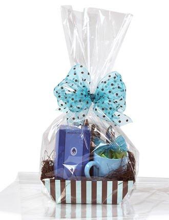 14x24 Flat Gift Basket Clear Food-safe Polypropylene Bags, 100x