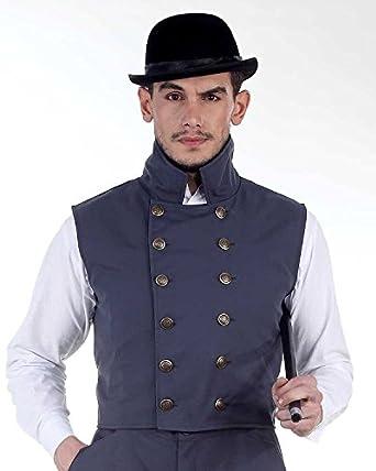 Men's Steampunk Vests   Men's Steampunk Fashion Steampunk Victorian Costume Herschel Grey Vest Jacket  AT vintagedancer.com