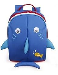 Kids Blue Shark Leash Backpack With Adjustable Straps