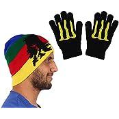 Warm Unisex Winter Cap With Hand Gloves