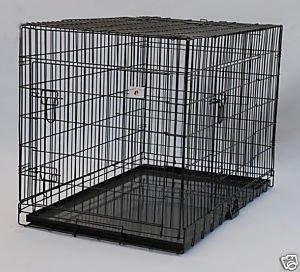 "Amazon.com : 3 Door 55"" Giant Breed Folding Kennel Black"