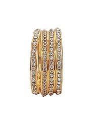 Gold Plated Diamond Bangles Set Of 4