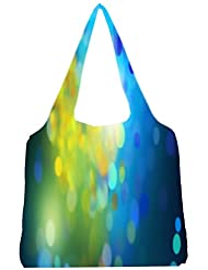 Snoogg Blue Drops Pattern Womens Jhola Shape Tote Bag