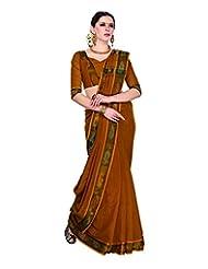 Aadarshini Women's Cotton Saree (4022, Rust)