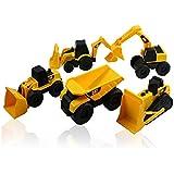 CAT Mini Machine Caterpillar Construction Truck Toy Cars Set Of 5, Dump Truck, Bulldozer, Wheel Loader, Excavator...