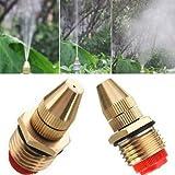 Generic 1/2 Inch Brass Adjustable Sprinkler Garden Lawn Atomizing Water Spray Nozzle