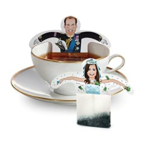 LIMITED EDITION Prince William & KaTea Royaltea Royalty Tea Bags Gift / Greeting Card