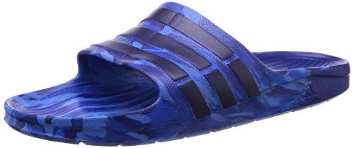 adidas Duramo Slide Marbled - Chanclas unisex, color azul / negro, talla 44 2/3