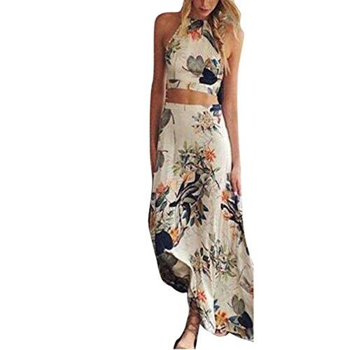 Rosennie Frau Sommer Boho Neckholder Lange Maxi Abend Party Strand Kleid  Abendmode. 4f8eeaf5de