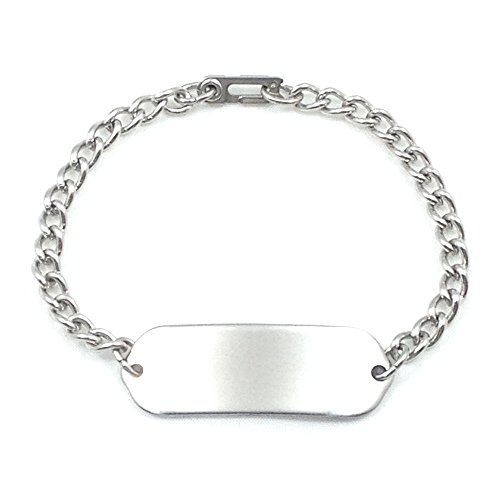 Theme Park Food and Safety - Plain Child ID Bracelet IDB-01 - Stainless Steel - Non Allergenic