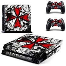 Umbrella Skin Sticker For PS4 Playstation 4 Console Controller Decal Set
