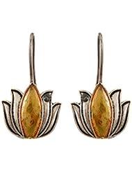 Johny Arts Jaipur Silver And Golden Brass Dangle & Drop Earrings For Girls And Women (JAE1169