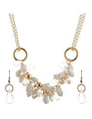 Mask Fashions Gold Metal Pu Beads Necklace For Women