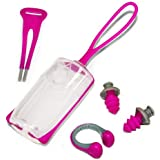 Aqua Sphere Silicone Ear Plug And Nose Clip With Case, Pink/Gray, One Size/Pink/Gray