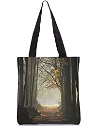 Snoogg Cutting The Forest Digitally Printed Utility Tote Bag Handbag Made Of Poly Canvas