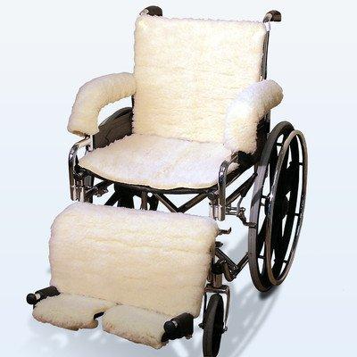 Sheepskin Wheelchair Covers in Cream Model: Leg Pad
