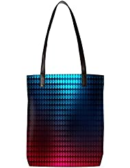 Snoogg Blue And Red Pattern Design Womens Digitally Printed Utility Tote Bag Handbag Made Of Poly Canvas With...