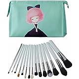 Clothobeauty 15 Pcs Premium Synthetic Kabuki Makeup Brush Set Kit,Foundation Blending, Powder,Blush,Eyebrow Brush...