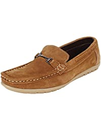 Guava Leather Loafer Shoes - Tan
