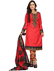 Sonal Trendz Red Color Polycotton Printed Dress Material.Party Wear Festive Wear. - B019J24ME4