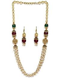 Zaveri Pearls Jewellery Set For Women (Multi-Colour) (ZPFK5411)