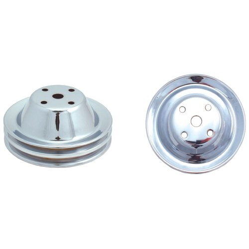 Spectre Performance 4418 Double Belt Groove Water Pump Pulley for Small Block Chevy, Chrome