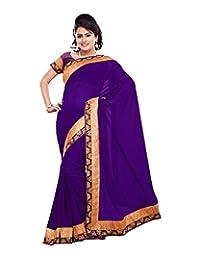 Bano Tradelink Women's Net Saree (Purple)