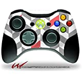 Xbox 360 Wireless Controller Decal Style Skin Chevrons Gray And Coral Controller Not Included
