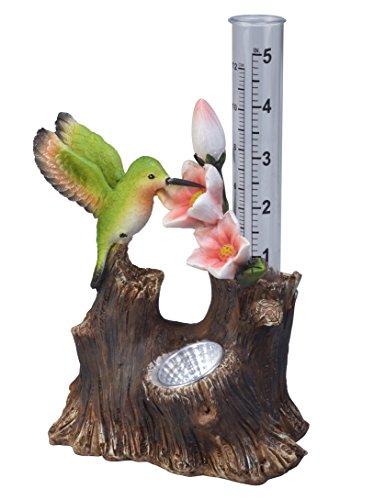 Solar Powered Hummingbird Rain Gauge