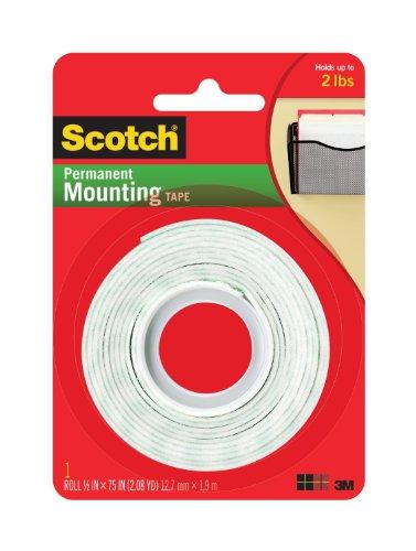 "Scotch Permanent Mounting Tape 1/2""x75"""
