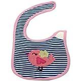 Woosh Baby Velcro Bib (Pink& Navy Blue)