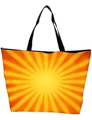 Snoogg Orange Rays Background Waterproof Bag Made Of High Strength Nylon