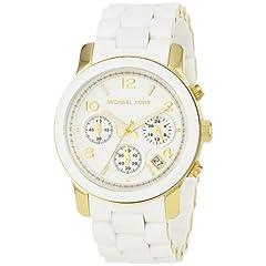 Michael Kors MK5145 Womens Two Tone Stainless Steel Quartz Chronograph White Dial Watch