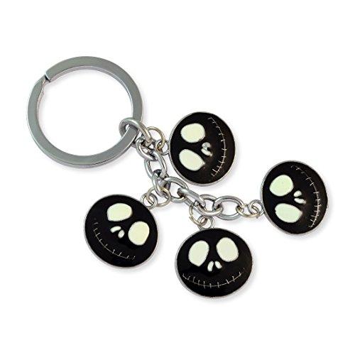 Black Demon Face Silver Color Key Chain By Sarah