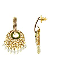The Jewelbox Gold-Plated Dangle & Drop Earring For Women (Gold)
