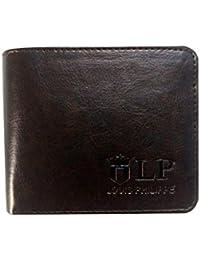 VINIK LOUIS PHILIPPE Men's Genuine Leather Wallet(Dark Brown)